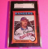 1975 Topps #543 Pete Broberg,  Graded MINT SGC 9 (96), Rangers.
