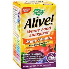 Alive Nahrungsmittel Energie mit Selenium Zink Multivitamin 90 Kapseln