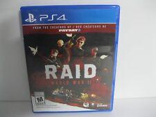 RAID World War II PS4 game
