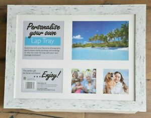 White Lap Tray - personalise your own with photos, paintings gift any occasion