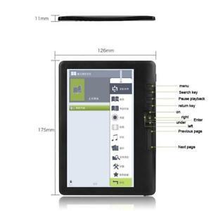"Portable 7"" eBook Reader Black 4/8/16G Storage Large Capacity Built-in Backlight"