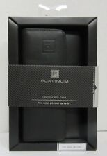 Platinum Universal Folio Wallet Case for Phones up to 5-inches Tall - Black