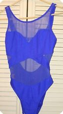 Swimsuit Size 9/10 Bathing Suit Monte Carlo Beach Club Mesh See Thru Swimsuit