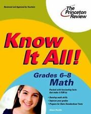 Know It All! Grades 6-8 Math (K-12 Study Aids)-ExLibrary