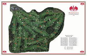 Monroe Golf Club 1924 Donald Ross - VintageGolfCourseMaps print