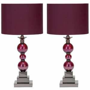 Loft Chic Handcrafted Table Lamps (Set Of 2) - 24-Inch