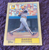 1987 TOPPS Barry Bonds Pirates #320 ROOKIE Baseball Card ERROR Graded Warranty