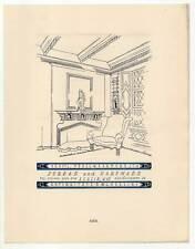 Art Déco-Antiquitäten-Möbel-Reklame - Lithographie aus Styl 1922