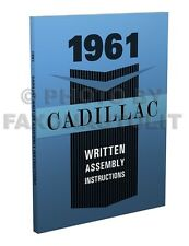 1961 Cadillac Assembly Manual Written Instruction Book for all models