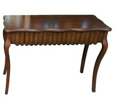 """Traditional Serpentine Mahogany Hall Console Table Grooved Front Drawer 40"""""""