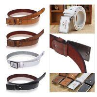 Luxury Men's Leather Automatic Buckle Belt Casual Waist Strap Belts Waistband