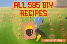 Animal Crossing New Horizons 💎ALL 595 DIY RECIPES👑 + Free items and material