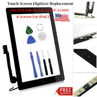 For iPad 4 iPad 2 Screen Replacement Touch Screen Digitizer Assembly Lot USA