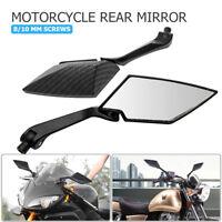 Ryde 8mm Carbón Fibra Negro Universal Moto Espejos de visión trasera view/side
