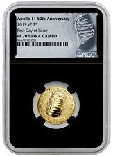 2019 W Apollo 11 50th Anniversary $5 Gold Commem NGC PF70 FDI Black SKU56915