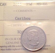 2016 CARIBOU 25CENT ICCS MS66