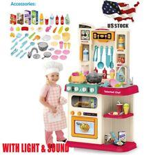 Kitchen Play Set Kid Pretend Playset Baker Toy Cooking Toddler Girls Boys Toy