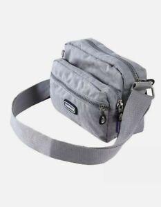 Grey Silver nylon Bag