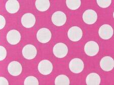 "Summer Pink White Polka Dot Valance 43""W 15""L Custom Curtain Window Treatment"