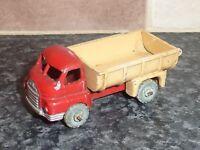 VINTAGE LESNEY MATCHBOX No.40A BEDFORD TIPPER TRUCK BEIGE & RED VGC