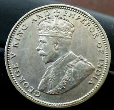 Straits Settlements silver 20 cents coin 1927 high grade