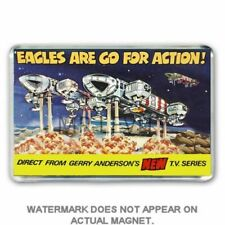 DINKY TOYS- SPACE 1999- EAGLE TRANSPORTER ADVERT JUMBO FRIDGE / LOCKER MAGNET