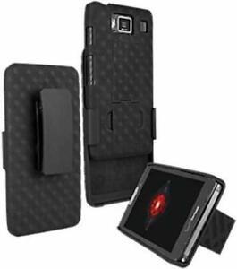 Verizon Max Combo Shell Holster Cover Kickstand Case Motorola Droid RAZR MAXX HD