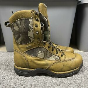 """Danner 8"""" Pronghorn Leather Boots Size 12 D Gore-Tex Hunting Camo 42214"""