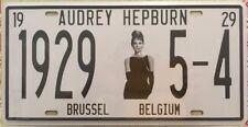 AUDREY HEPBURN Sign NEW Vintage Number Plate Style Tin Metal Memorabilia