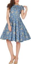 Rockabilly Collar Short Sleeve Dresses for Women