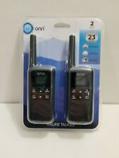 Onn Rechargeable Walkie Talkie Long Range Up To 23 Mile 22 Channel LED Light