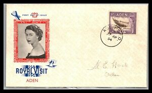 GP GOLDPATH: ADEN COVER 1954 FIRST DAY OF ISSUE _CV676_P16