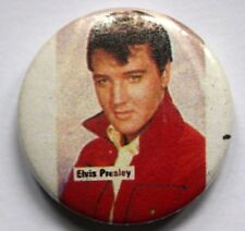 elvis presley old vtg 1980`s bouton Badge (non Chemise Patch LP CD CONCERT)