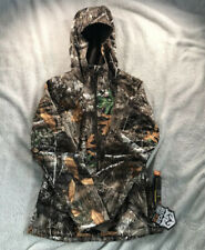 New Women's Small Under Armour Hunting Jacket Realtree Camo Hoodie Mid Season