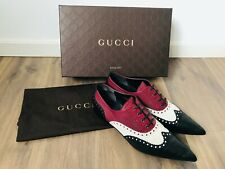 "GUCCI  Schnürschuhe/Halbschuhe  ""Gia""  mit Budapester Muster, multicolor, Gr. 39"