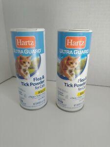 2 Hartz Ultra Guard FLEA & TICK CATS POWDER New