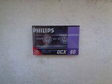 Vintage Audio Cassette PHILIPS UCX 60 * Rare From Switzerland 1987 *