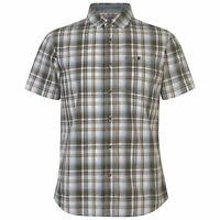 Mens SoulCal Short Sleeve Checkered Shirt Casual New