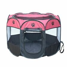 Folding Pet Tent Dog House Cage Cat Playpen Puppy Kennel Octagon Fence Outdoor