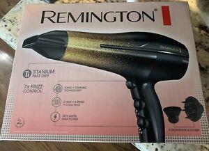 Remington Titanium Fast Dry Hair Dryer with Ionic & Ceramic NEW Glitter 1875