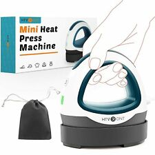 Htvront Mini Heat Press Machine For Vinyl Projects Small Iron On Heat Transfer