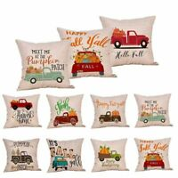 Fall Halloween Pillow Cases Linen Sofa Pumpkin ghosts Cushion Cover Home Decor &