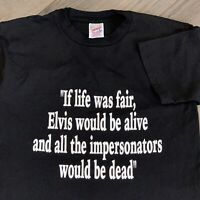 Elvis Vintage T Shirt Adult Small Mens Black 90s Funny Music Rock Elvis Presley