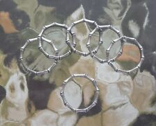6 Bamboo Pewter Rings Size 6 Only All New.