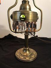 New listing Vintage Art Deco Embossed Brass Lamp