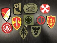 Lot of 11 Various U.S. Military / Army patches & insignia, A+ original NEW, 2