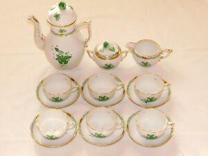 Herend Chinese Bouquet Green (AV) tea / coffee set