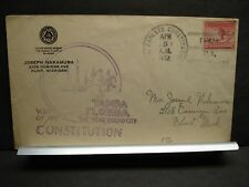 Frigate USS CONSTITUTION Naval Cover 1932 TAMPA, FLORIDA Cachet