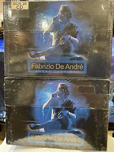 FABRIZIO DE ANDRE'-OPERA COMPLETA-SET BOX19 CD+1 DVD RARO Introvabile da collezi