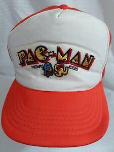 Vintage Pac-Man Mesh Trucker Hat Snapback Cap 1981 Midway